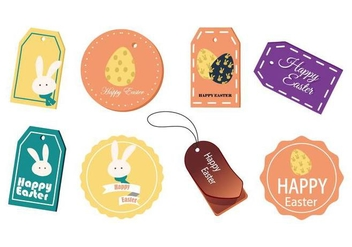 Free Easter Gift Tag and Cards Vector - vector #441847 gratis