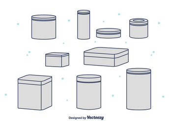 Tin Box Vector Collection - Free vector #441897