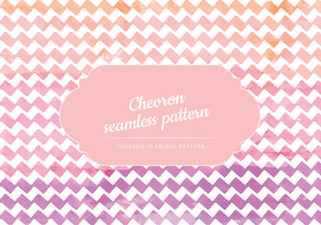 Vector Watercolor Chevron Pattern - Free vector #441937
