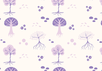 Trees Seamless Pattern Vector - Free vector #441967