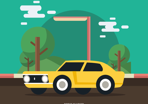 Dodge Charger Muscle Car - Free vector #441987