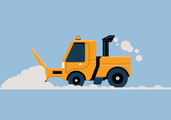 Snow blower vector illustration - Free vector #441997