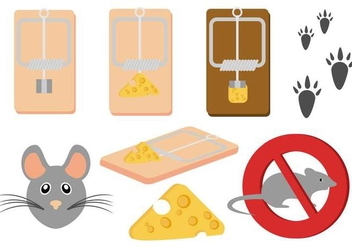 Free Mouse and Mousetrap Vector - бесплатный vector #442027