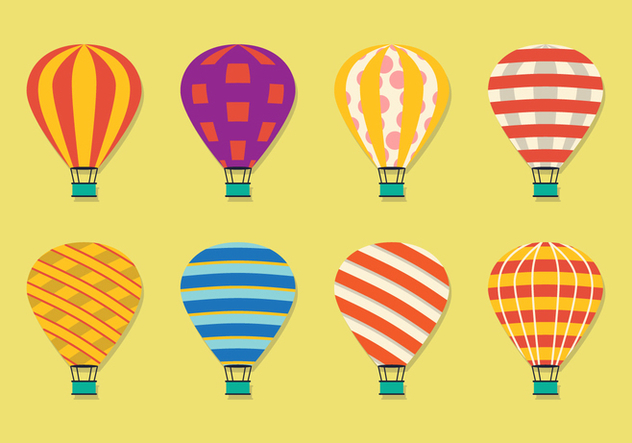 Air Balloon Pattern - vector gratuit #442047