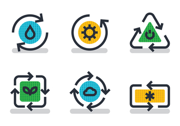 Recycle Icon - vector #442227 gratis