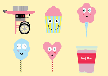 Candy Floss Vector Pack - бесплатный vector #442247