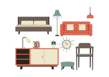 Free Furniture Icon Set - vector #442257 gratis