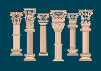 Corinthian Pillar Vector - бесплатный vector #442287