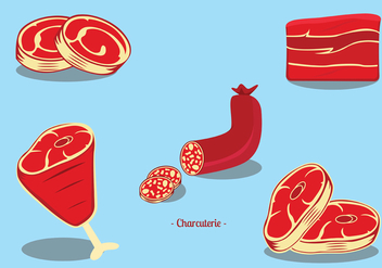 Charcuterie Boucherie Vector Pack - Free vector #442337