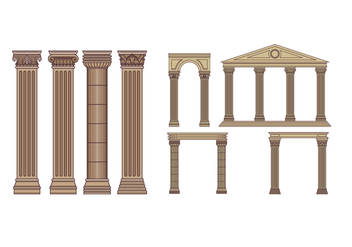 Free Roman Pillars Vector Pack - бесплатный vector #442367