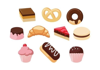 Free Sweet Food Set Vector - Kostenloses vector #442427