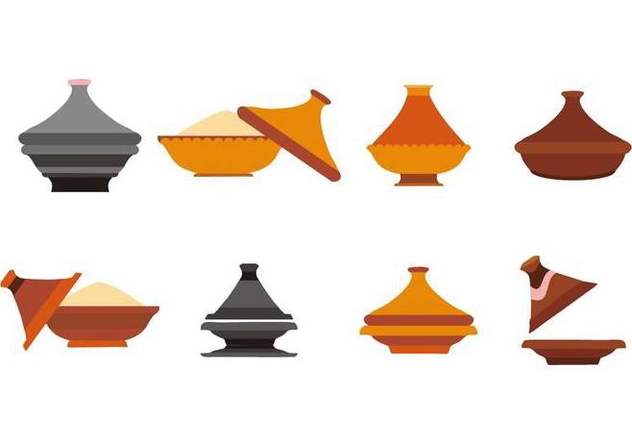 Free Ceramic Tajine Collection Vector - vector gratuit #442457