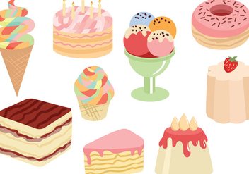 Free Sweets Cakes Vectors - Kostenloses vector #442477