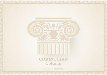 Capital Of The Corinthian Column Vector - vector gratuit #442487
