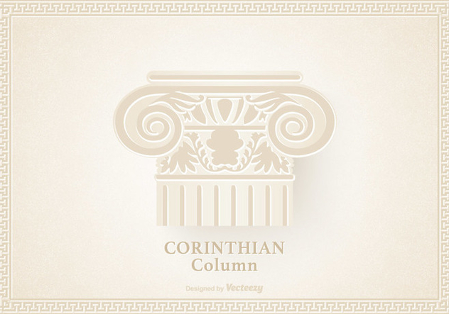 Capital Of The Corinthian Column Vector - Free vector #442487