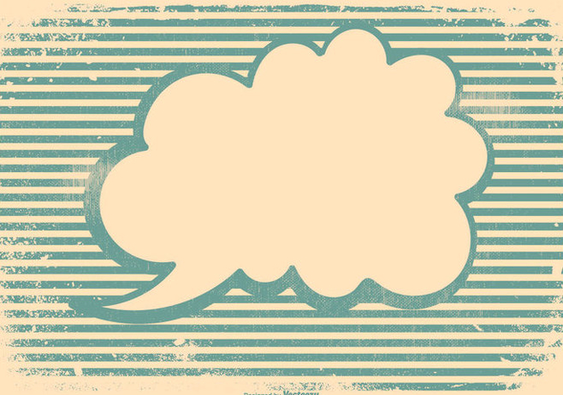 Retro Grunge Blank Speech Bubble Background - vector gratuit #442507