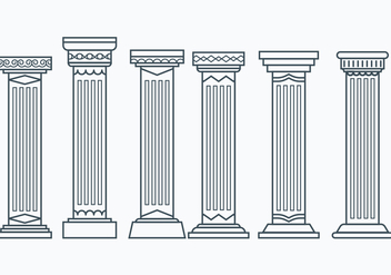 Set of Corinthian Columns - vector gratuit #442527