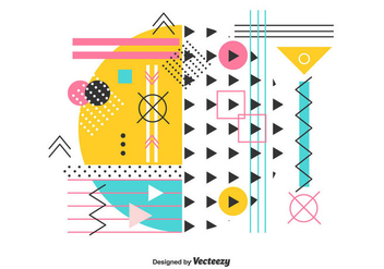 Abstract Geometric Vector - Free vector #442697