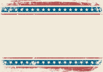 Patriotic Grunge Style Background - vector gratuit #442727