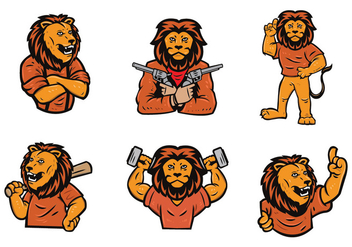 Free Lion Logo Vector Set - бесплатный vector #442747