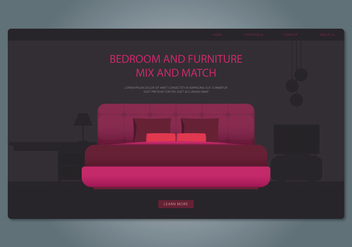 Headboard Bedroom and Furniture Web Interface Vector - vector #442787 gratis
