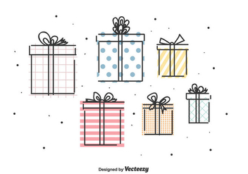 Gifts Vector Set - Free vector #442807