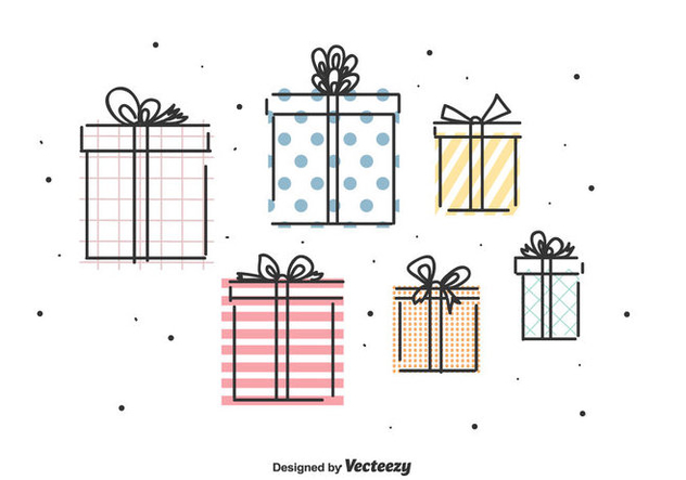 Gifts Vector Set - vector gratuit #442807
