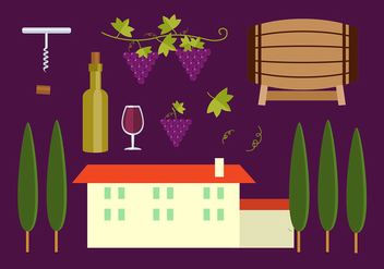 Tuscany Icon Set Free Vector - Free vector #442817