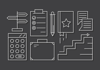 Linear Business Icons - vector #442837 gratis