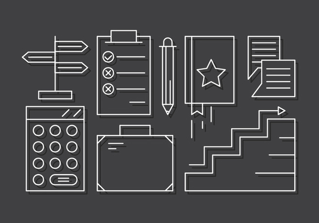 Linear Business Icons - vector gratuit #442837