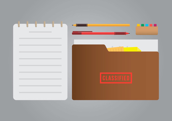 Classified Cachet and Stationery Illustration - vector #442937 gratis