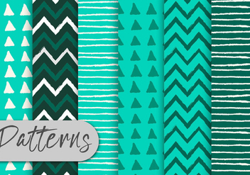 Green Stripes Pattern Set - Kostenloses vector #442957