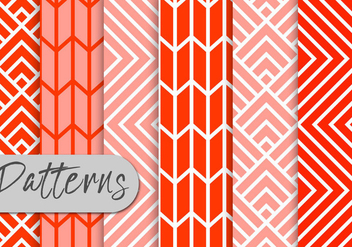 Red Line Pattern Set - vector gratuit #442967