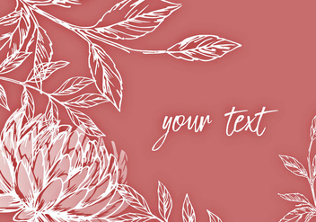 Elegant Floral Background Design - vector gratuit #442977