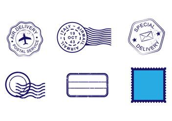 Blue Cachet Vector Set - Free vector #443007