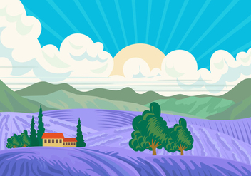 Bluebonnet Valley Scene - vector #443027 gratis
