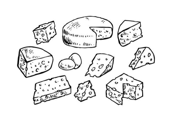 Cheese Collection for Charcuterie Board Vector - Free vector #443037