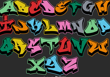 Vector Graffiti Alphabet Letters - vector #443057 gratis