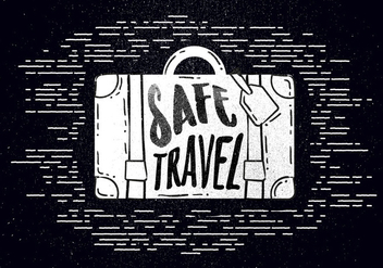 Free Hand Drawn Travel Background - Free vector #443067