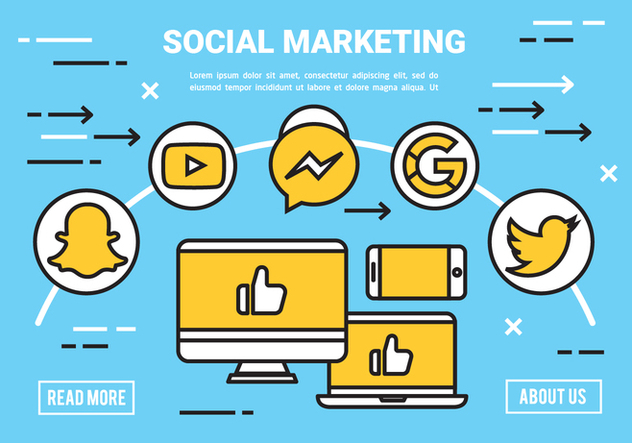 Free Flat Digital Marketing Concept Vector - Free vector #443087