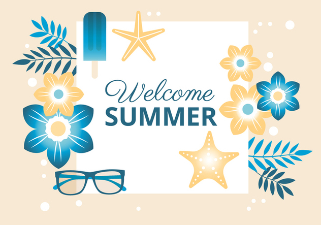 Free Summer Holiday Background - vector gratuit #443107