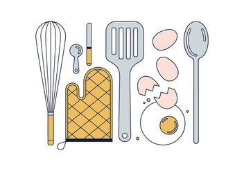 Free Cook Tools Vector - Free vector #443137