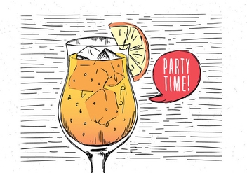 Free Hand Drawn Vector Drink - vector #443217 gratis