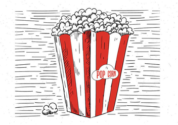 Free Hand Drawn Vector Pop Corn Illustration - бесплатный vector #443227