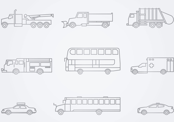 Public Service Vehicles Icon - vector gratuit #443297