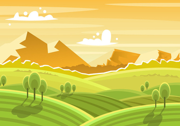 Beautiful Tuscany Landscape - бесплатный vector #443307