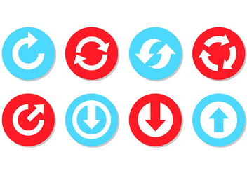 Set Of Update Icons - vector #443347 gratis