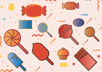Candies Icons Set - vector #443357 gratis