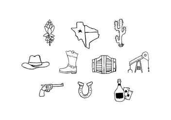 Free Texas Sketch Icon Vector - Kostenloses vector #443427