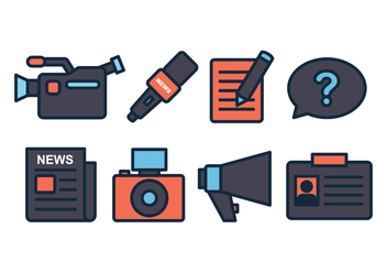 Journalist Icon Set - Free vector #443547